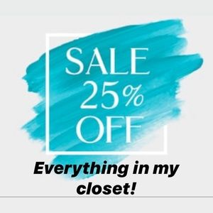 Closet Clear out! 25% off Everything!